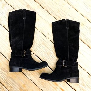 """Garnet Hill""""Arabella"""" Made it Italy Suede Boots"""